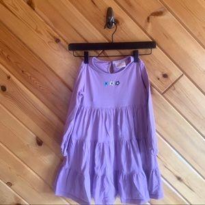 Hanna Andersson Purple Floral Long Sleeve Dress 5